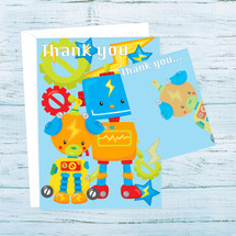 Robot Thank You Postcards
