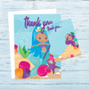 Mermaids Trident Thank You Postcards