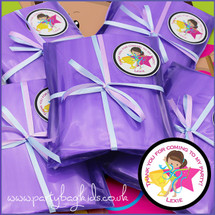 Gymnastic Personalised Party Parcels in Purple