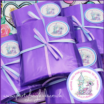 Magical Dragon Personalised Party Bag in Purple