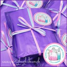 Pamper Personalised Party Bag in Purple