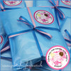 Ballerina Personalised Party Bag in Baby Blue Close Up