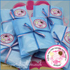 Ballerina Personalised Party Bag in Baby Blue
