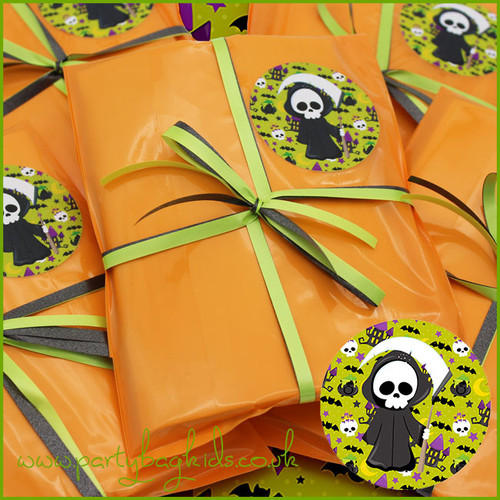 Grim Reaper Party Bag in Baby Blue Close Up