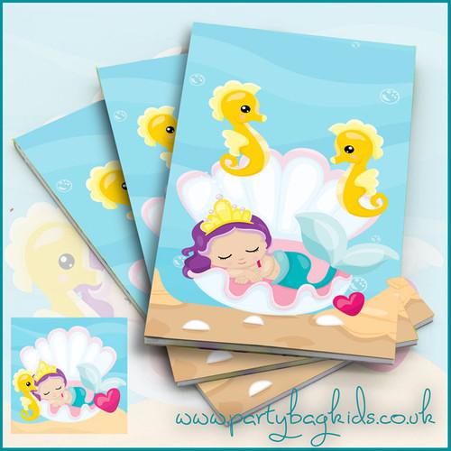 Mermaids Clamshell Notebooks