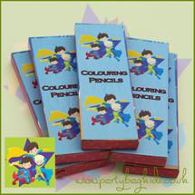 Super Hero Colouring Pencils