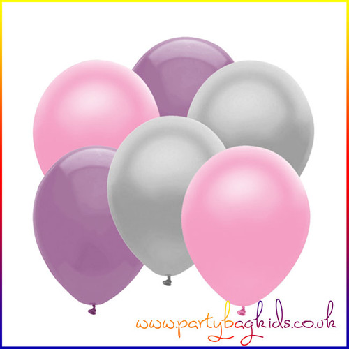 Silver Lilac and Pink Balloon Pack
