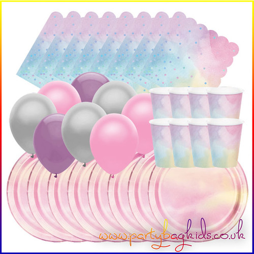 Pink Iridescent Party Pack for Eight