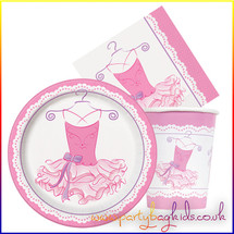 Pink Ballerina Party Pack for Eight
