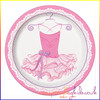 Pink Ballerina Party Plate