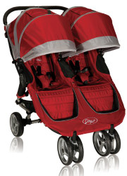 Baby Jogger 2012 City Mini Double Stroller, Crimson/Gray