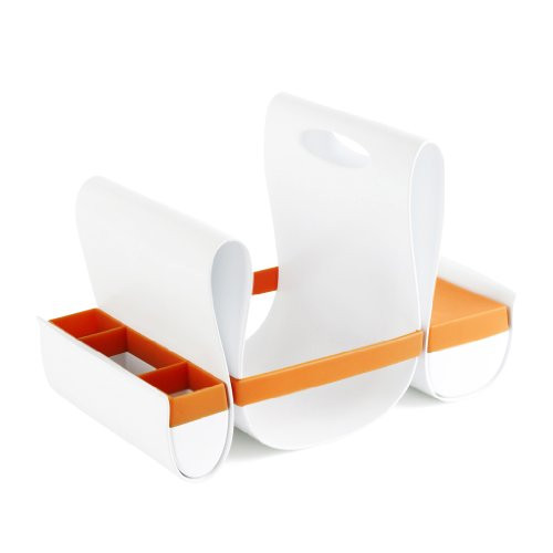Boon, Inc.  LOOP Diaper Caddy - Orange + White 1331