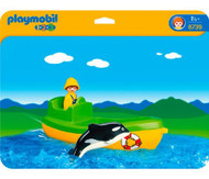 Playmobil 1.2.3 Fishing Boat with Whale 12 months-and UP  12 months-and UP