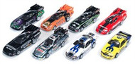 Auto World 4Gear Release 9 NHRA Funny Cars & Pro Stockers (Assorted Box of 8 Cars) HO Scale Slot Cars - SC252