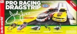 Auto World NHRA John Force Pro Racing Dragstrip HO Scale Slot Car Set - SRS268