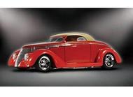 Lindberg 1/24 1937 Ford Custom Convertible Car Model Kit - 73063