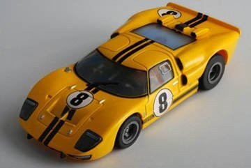 AFX SRT Clear GT40 #8 Whitmore Collectors Series HO Scale Slot Car