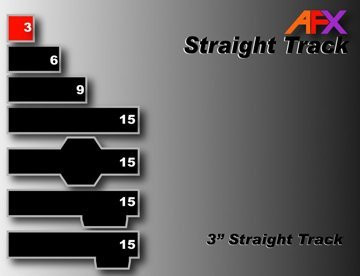 AFX 3 Inch Straight Adapter HO Scale Slot Car Track (replaces 8626) - 70605