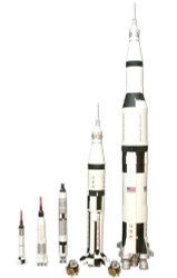 AMT 1/200 Man In Space Rocket Set Model Kit - 700