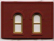 DPM Design Preservation Models HO Scale Modular System One-Story Arch Window Wall (4 Pieces) - 30112