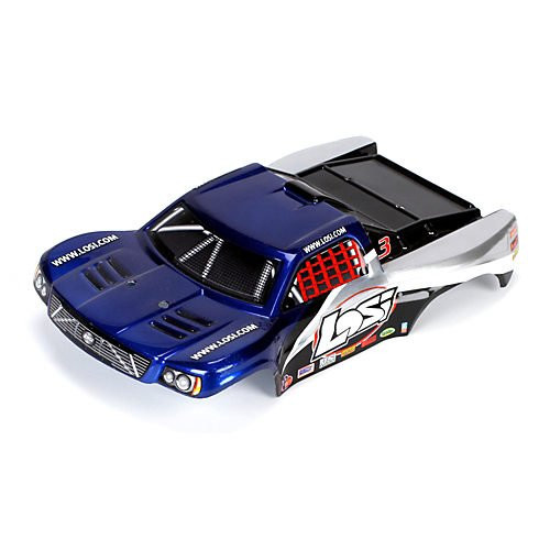 Losi 1/24 4WD SCT Painted Body, Blue/Silver ~ B1793