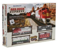 Bachmann HO Scale Red Rock Express (Santa Fe) Train Set - 00678