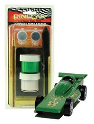 PineCar Derby Racers Complete Paint System Gear Rippin' Green - 3958 ^
