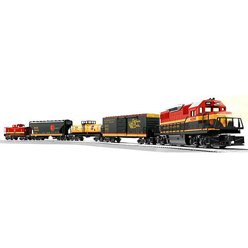 Lionel O Scale Ready-to-Run KCS Southern Belle with with Railsounds GP-38 Freight Train Set - 630186