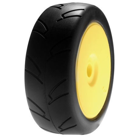 Team Losi 1/8 8ightH Street On-road Tire Mounted, Yellow Wheel ~ A17759