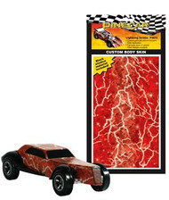 PineCar Derby Racers Custom Body Skin Lightning Strikes - 3975