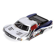 Losi 1/24 4WD SCT Painted Body, Silver/Blue ~ B1792