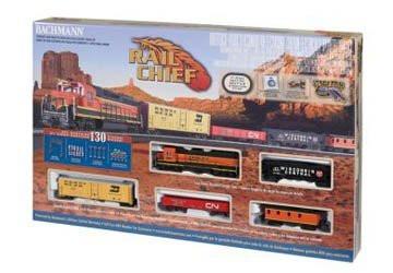 Bachmann HO Scale Rail Chief Train Set - 00706