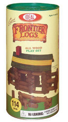 Ideal Toys Frontier Logs in Canister (114 pieces) - 114L