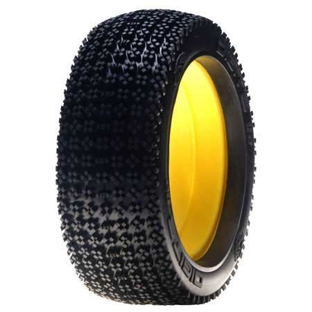 Losi 1/8 Digits Buggy Tire with Insert, Red (2) ~ A7774R