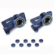 Losi Aluminum Rear Hub Set w/BB (2), Blue: 5IVE-T ~ B2094
