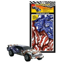 PineCar Derby Racers Custom Body Skin Freedom Flag - 3980