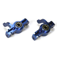 Losi Aluminum Front Spindle Set w/BB, Blue (2): 5IVE-T ~ B2091