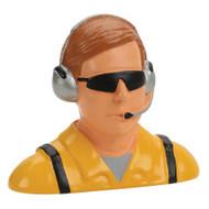 Hangar 9 1/4 Pilot, Civilian w/Headset & Mic, Sunglasses ~ 9123