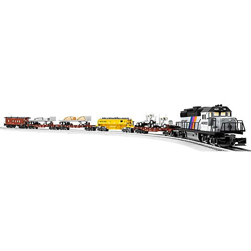 Lionel O Scale Ready-to-Run Limited Edition New Jersey Transit MOW with Railsounds Train Set - 630185