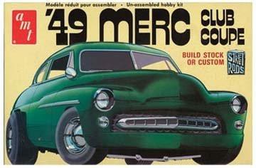 AMT 1/25 1949 Mercury Club Coupe Car Model Kit - 654