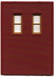 DPM Design Preservation Models HO Scale Modular System Two-Story 2 High Rectangle Windows (4 Pieces) - 30139