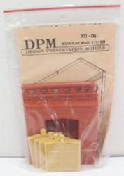 DPM Design Preservation Models HO Scale Modular System Dock Level Loading Door (4 Pieces) - 30106