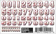 PineCar Derby Racers Dry Transfer Decals Beveled Numbers - 4015