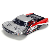 Losi 1/24 4WD Short Course Painted Body, Silver & Red ~ B1783