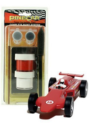 PineCar Derby Racers Complete Paint System Flamin' Red Metallic - 3957 ^