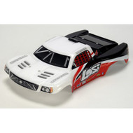 Losi 1/24 4WD Short Course Painted Body, White & Red ~ B1784