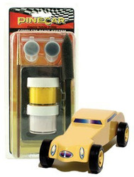 PineCar Derby Racers Complete Paint System Cosmic Yellow - 3959 ^
