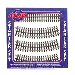 Atlas O Scale 3-Rail Track Nickel Silver Starter Set - 6001