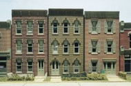 DPM Design Preservation Models HO Scale Kit Townhouse Flats (3 Fronts Only)  - 11400