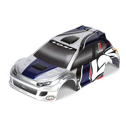 Losi 1/24 4WD Rally Painted Body, Silver/Blue ~ B1794